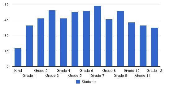 Allendale Academy Private School Students by Grade