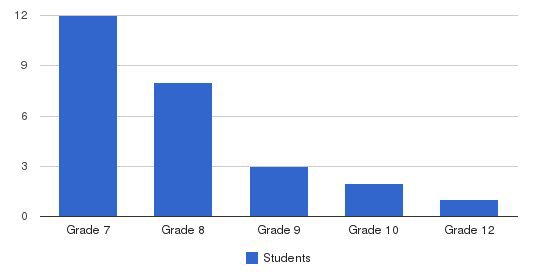 Conservative Christian Academy Students by Grade