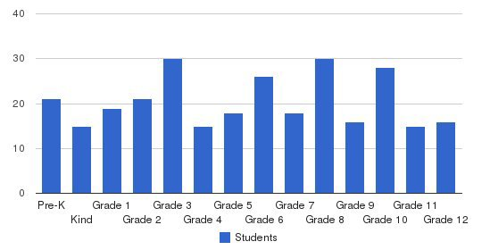 Briarwood Academy Students by Grade