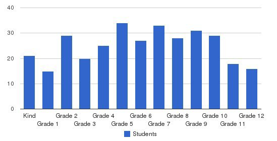 Excel Christian Academy Students by Grade