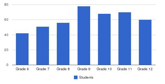 Tallulah Falls School Students by Grade