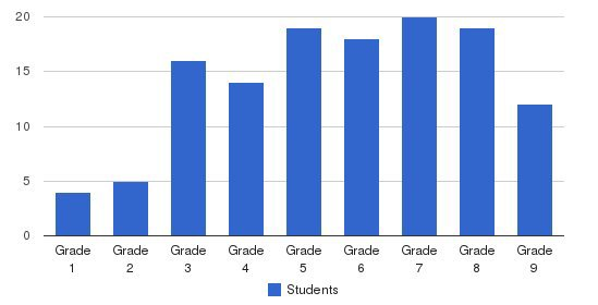 The Bedford School Students by Grade