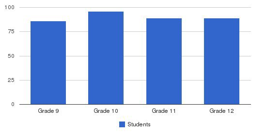 Chicago Christian High School Students by Grade