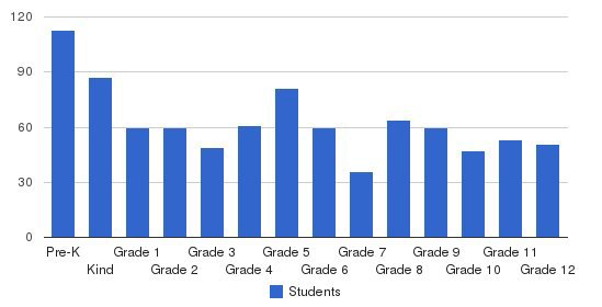 Christian Liberty Academy Students by Grade