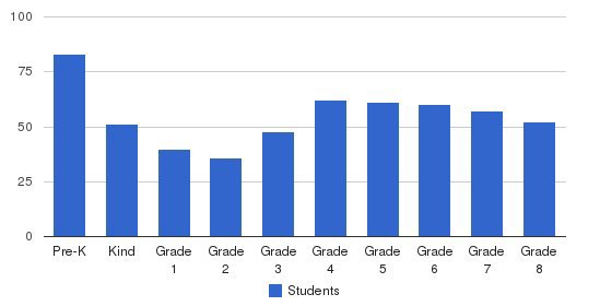 St Raymond School Students by Grade