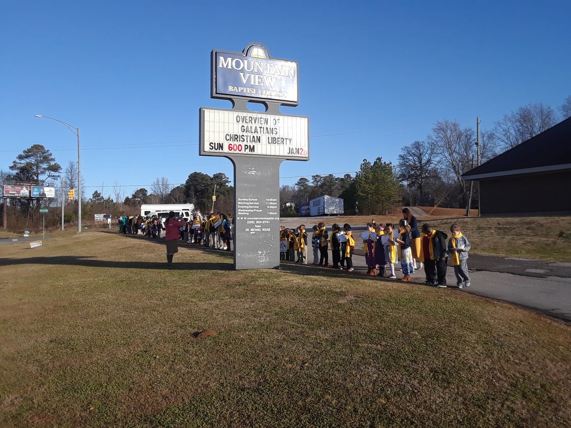 Mountain View Baptist School Photo #1 - Our school is for k4 - through the 12th grade. Please call so that more information can be sent to you about all our school provides. Thanks for the interest. Also check out our website.