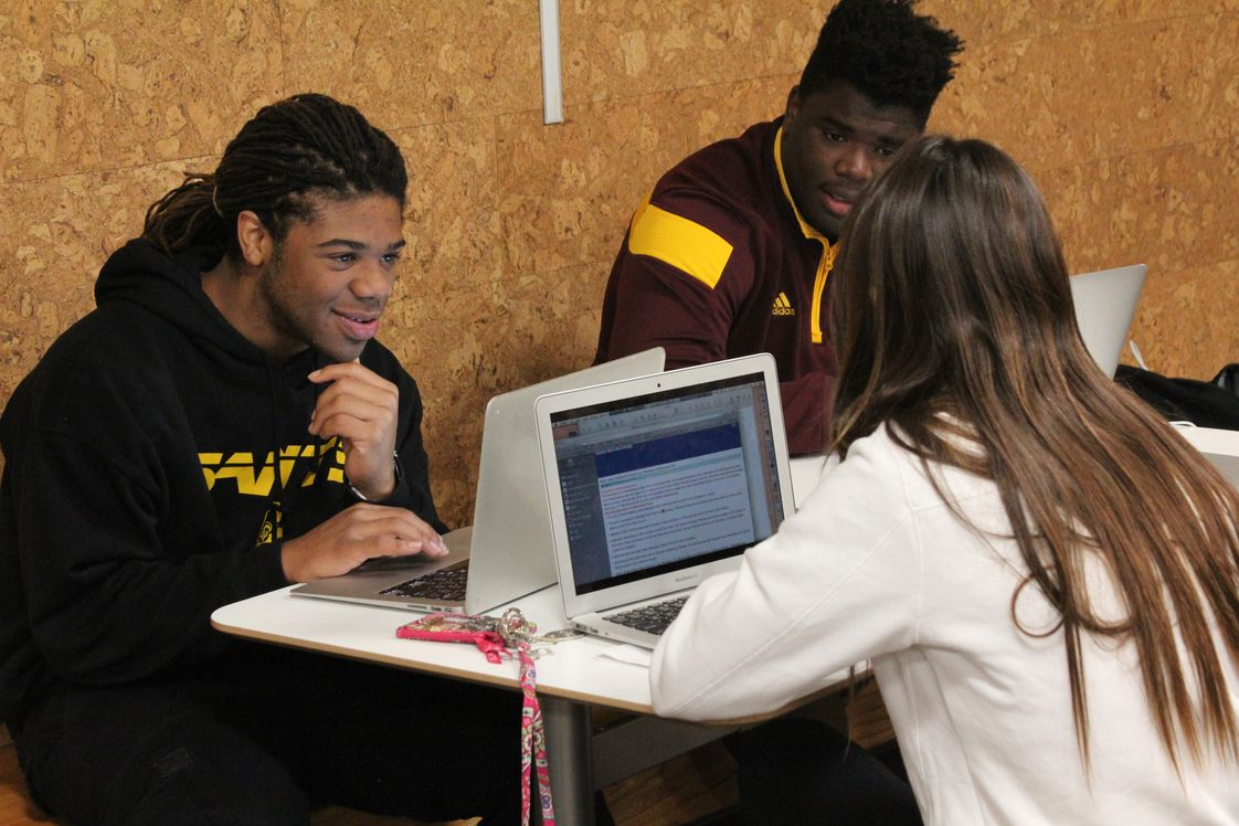 Lutheran High School Photo - LHS is a 1:1 school. Each student has his/her own Apple MacBook as part of the curriculum.