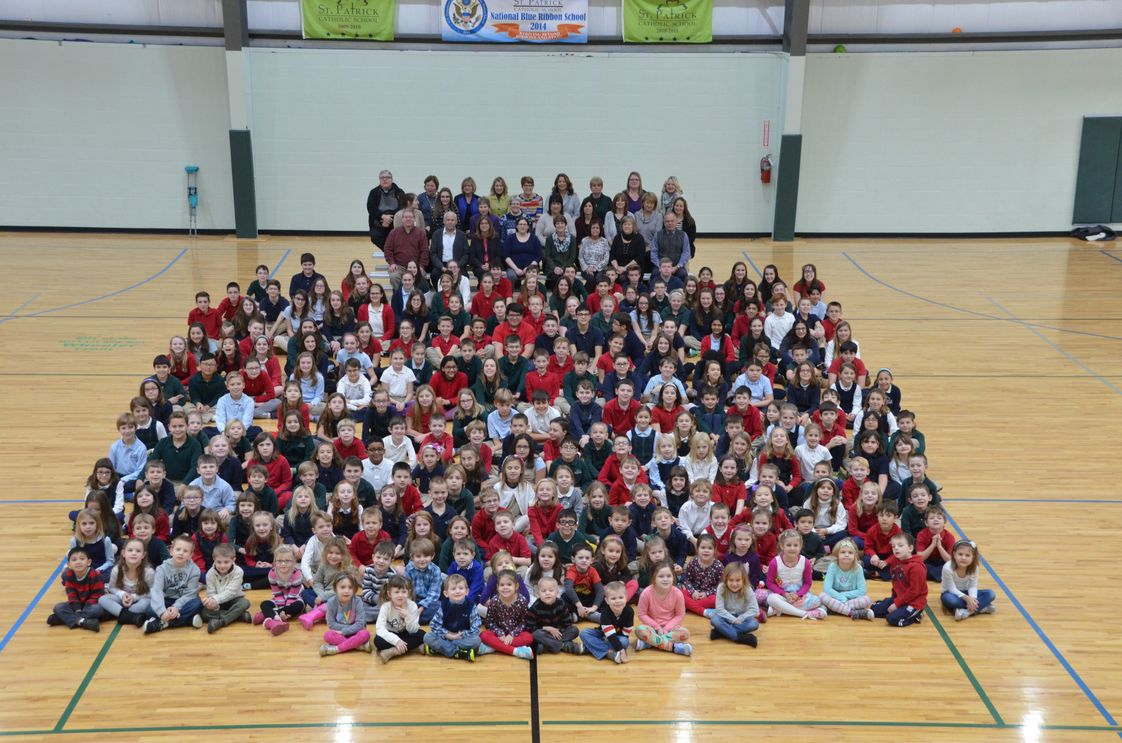 St. Patrick Elementary School Photo - The annual 2016/2017 School Picture. St. Patrick School services Preschool through 8th Grade.