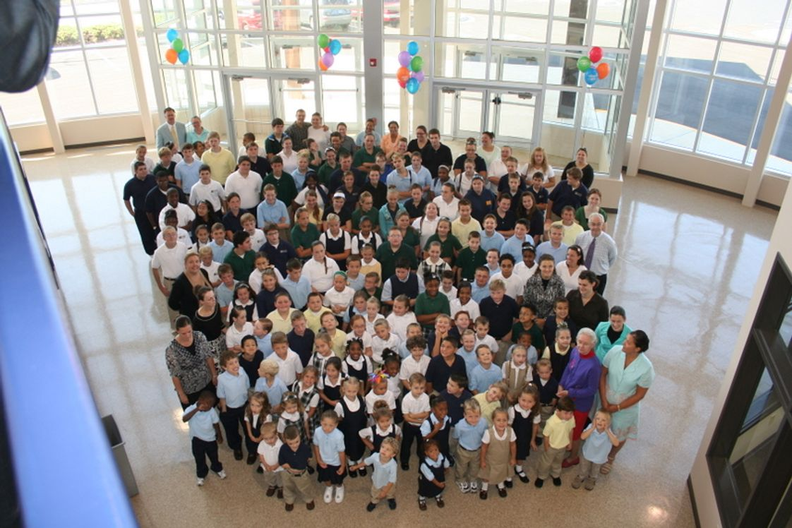Calvary Christian School Photo - Group picture from the first day of school