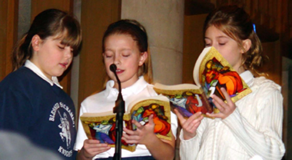 Holy Cross School-blessed Sacrament Center Photo #1 - Students particpate in weekly masses