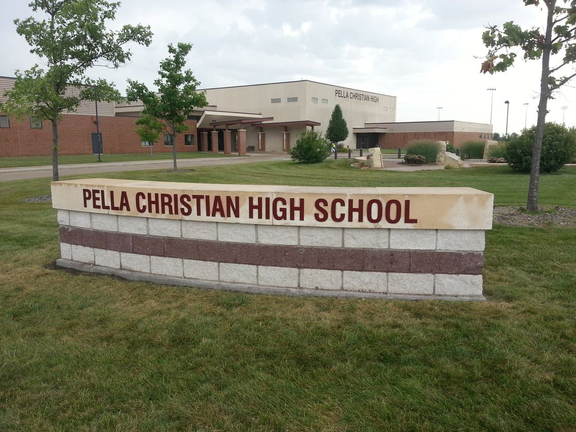 Pella Christian High School Photo - Pella Christian High School Campus Front Entrance