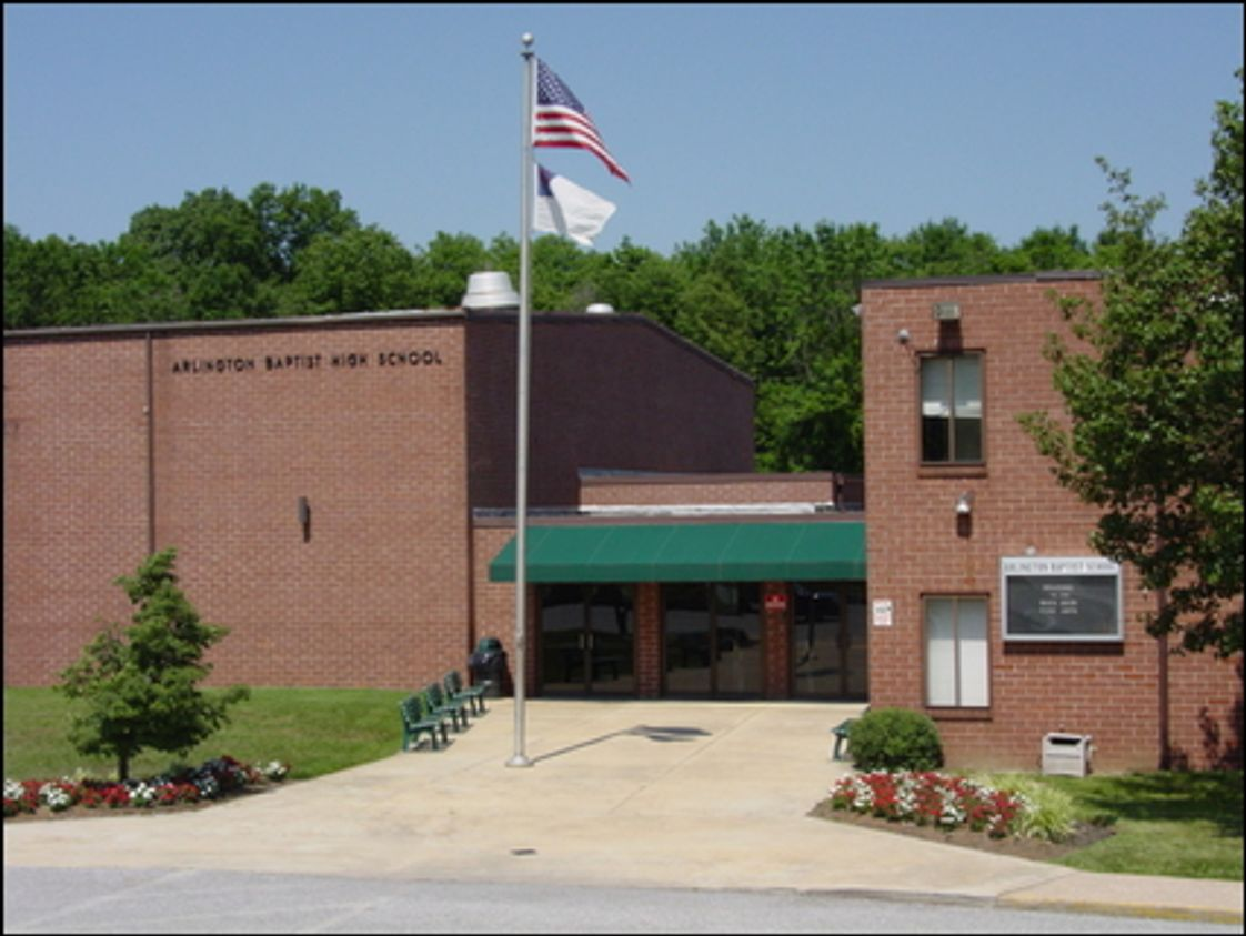 Arlington Baptist School Photo #1 - This building houses our middle and high schools and has its own gymnasium, cafeteria, art studio, music classroom, computer lab, and library. The main school offices are also in this building.