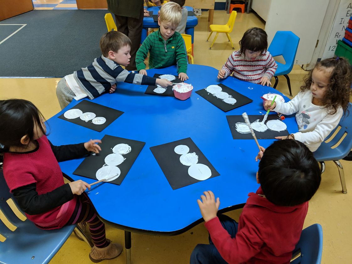 Our Lady Of Lourdes School Photo #1 - Pre-School students learn Art in their classrooms.