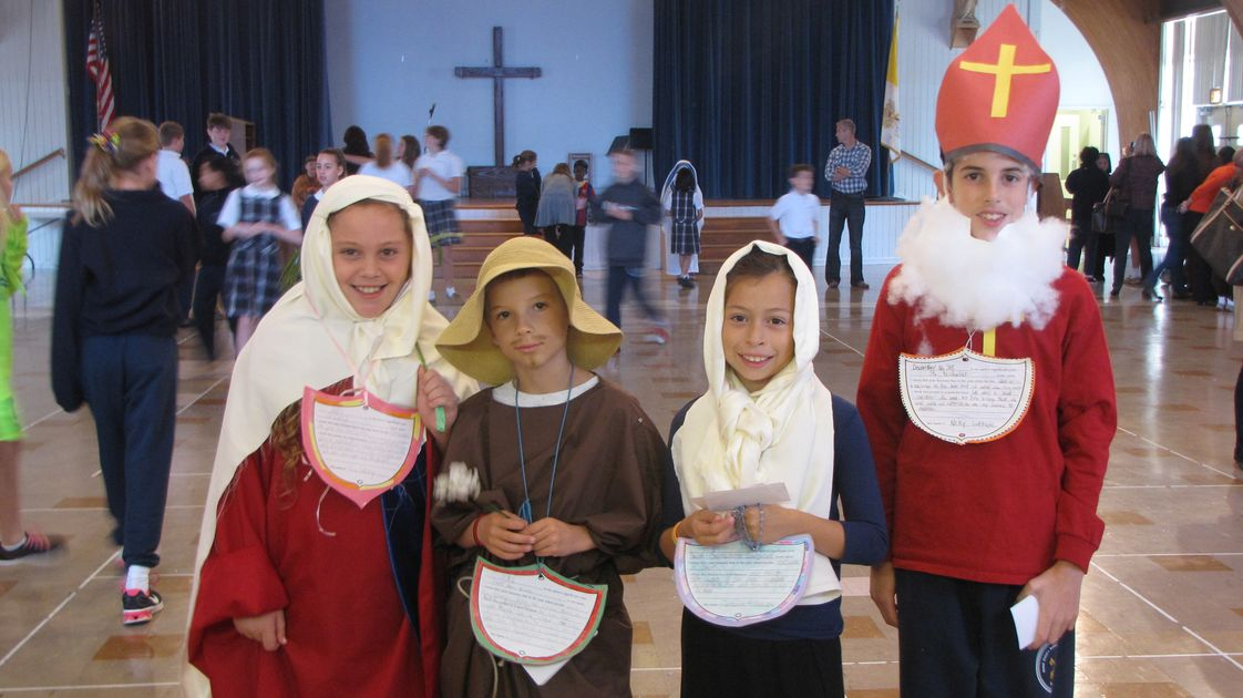 Saint Peter's School Photo #1 - 4th Graders celebrating All Saints Day