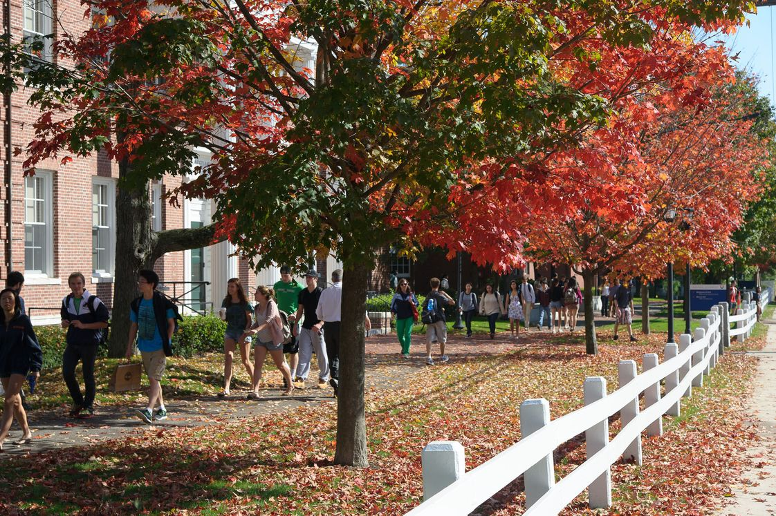 Milton Academy Photo #1 - Milton Academy is only eight miles from Boston's museums, schools and attractions, but it has the benefits of a 130-acre New England campus-with green quads and lots of fall foliage.
