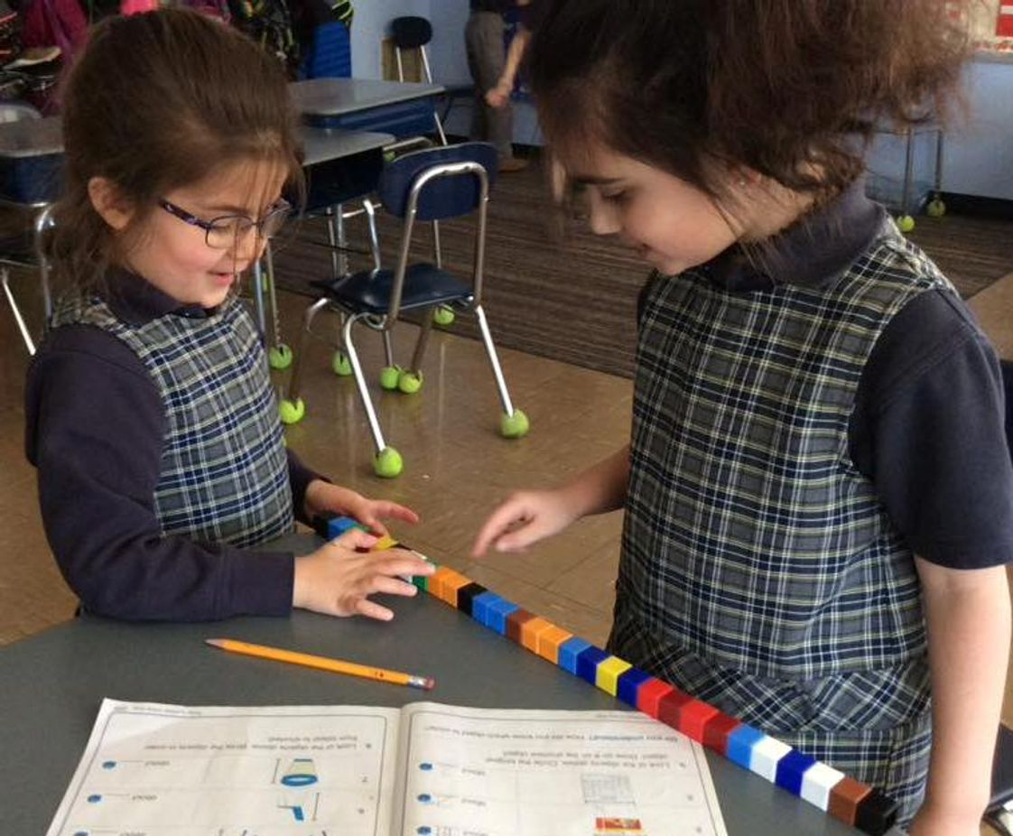 St. Joseph School Photo - Students work together in pairs or small groups for cooperative learning.