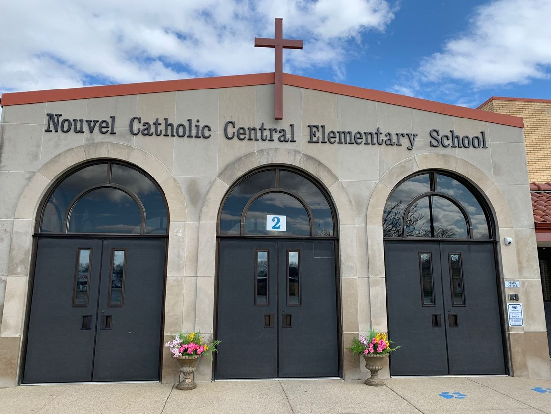 Nouvel Catholic Central Elementary & Middle School Photo - Nouvel Catholic Central Elementary and Middle School welcomes students from Preschool (age 3) all the way to 8th grade. At Nouvel, we pride ourselves on our small class sizes, service to the community and high-achieving students.
