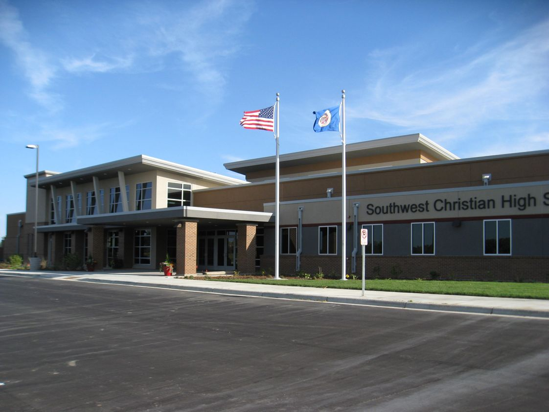Southwest Christian High School Photo #1 - Front of School, New Construction in 2012