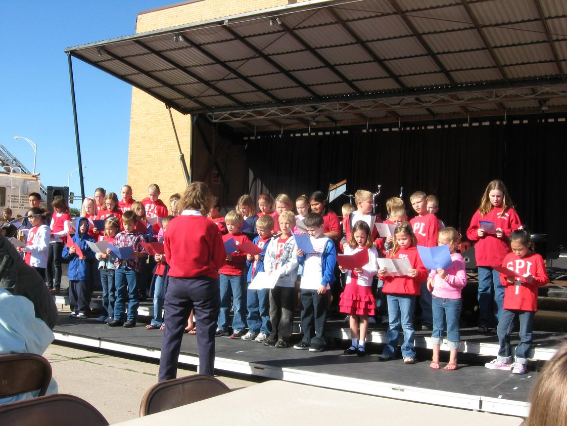St. Paul Lutheran School Photo - Jubilate Choir singing at the VFW Veterans' Rememberance Day on Sept. 11th.