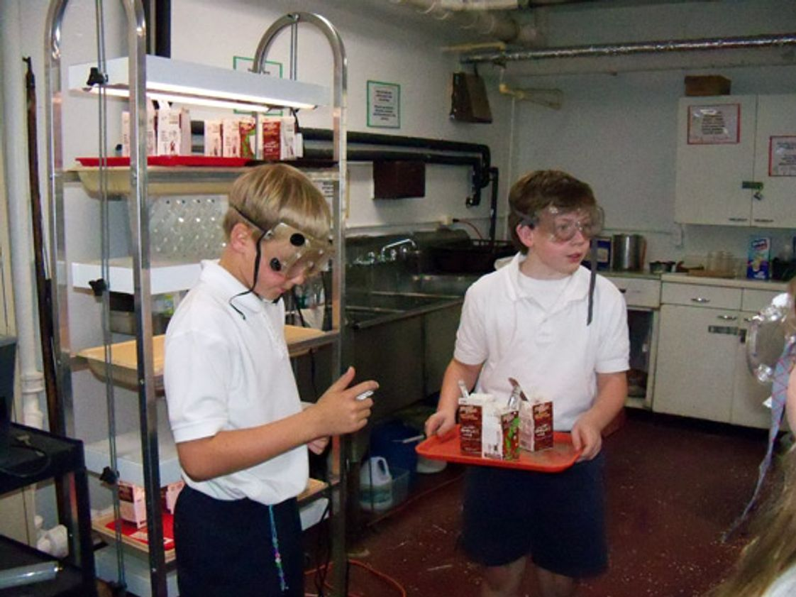 St Ann Catholic School Photo - Students using the dedicated science lab at St. Ann Catholic School.
