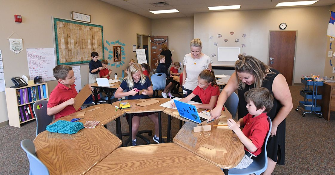 St. John School: A Personalized Learning Academy Photo - Modern, interactive education in a warm, comfortable environment.