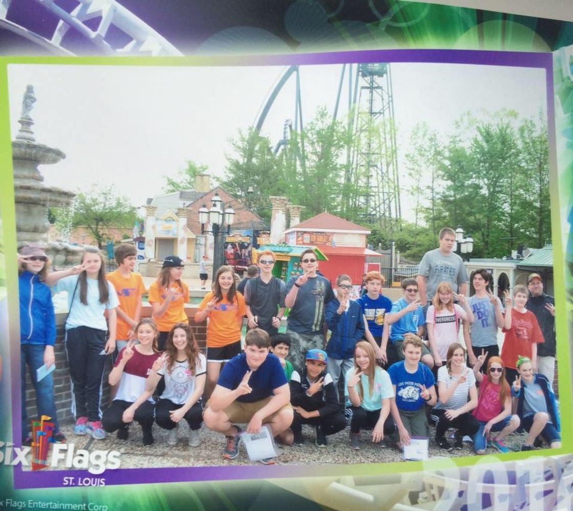 St. Peter Catholic School Photo #1 - STEM field trip to Six Flags with our 7th and 8th grade