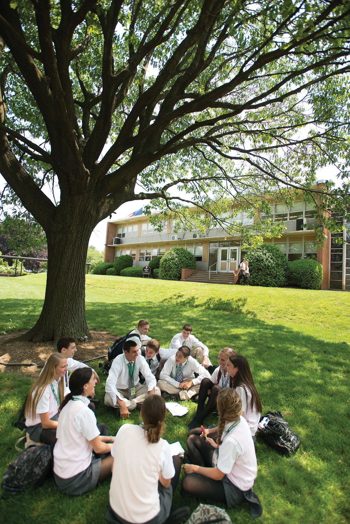 Bishop Eustace Prep School Photo #1 - A group of students enjoying our college style campus.