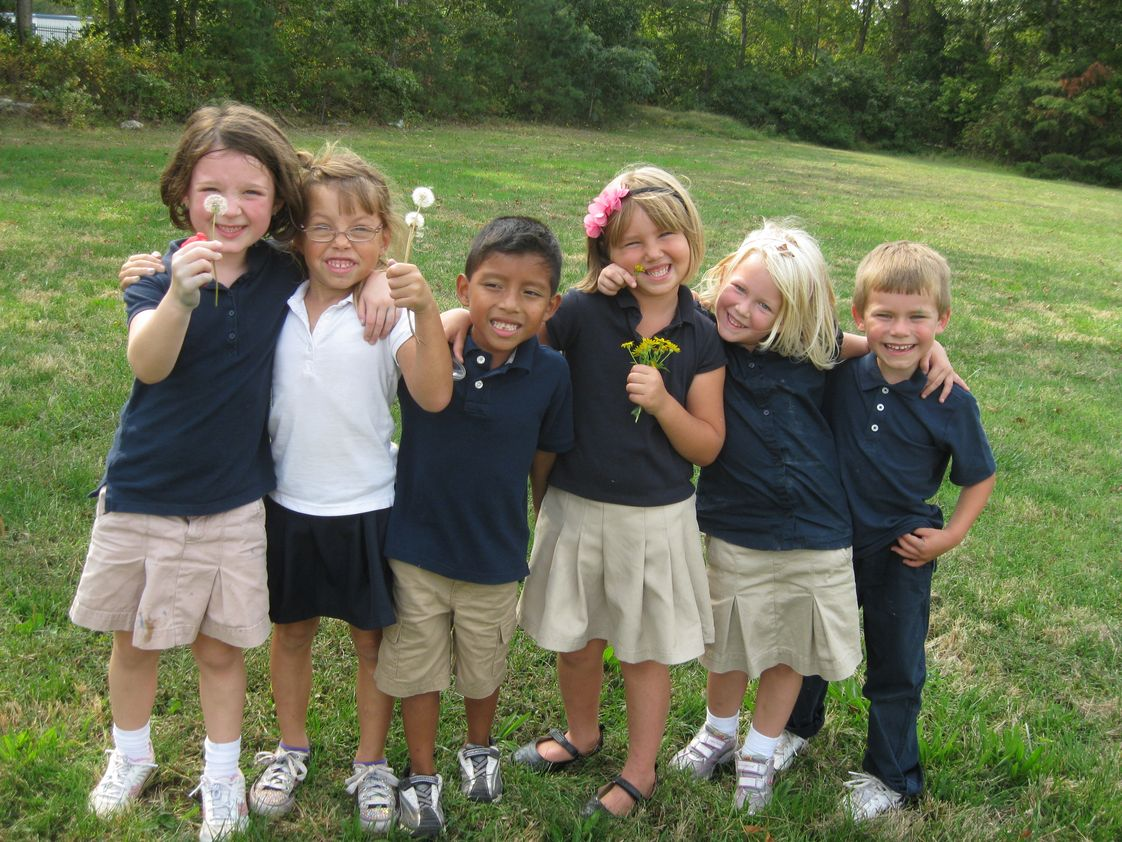 Cape Christian Academy Photo - Kindergarten students enjoy God's creation.