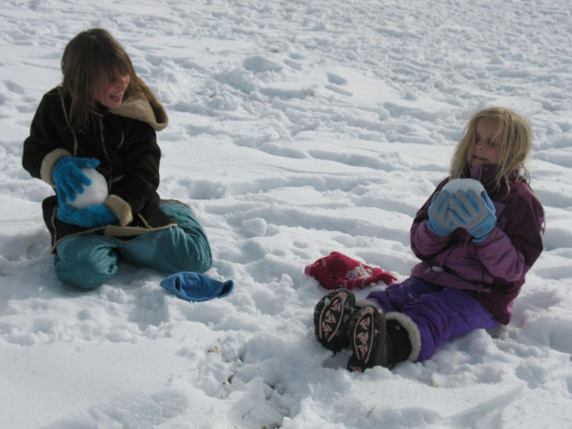 Little Earth School Photo - Winter on the playground!