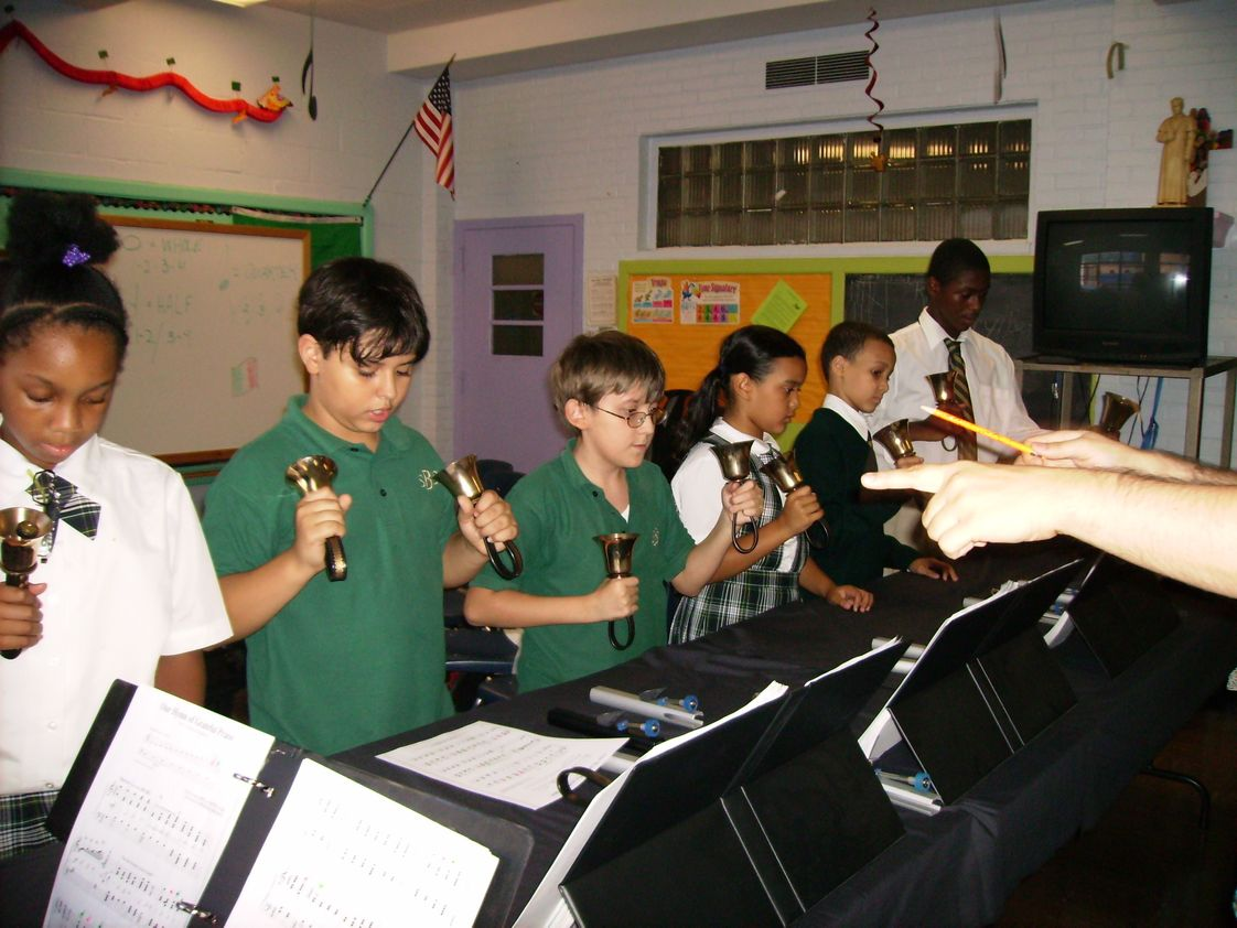 St. Brigid School Photo #1 - St. Brigid School offers a unique handbell ringing program. Students grades 3-8 receive in-class handbell instruction. Students who are excelling in handbell ringing can try out to be a member of the after-school ringers. St. Brigid Ringers travel to out-of-state handbell festivals to perform.