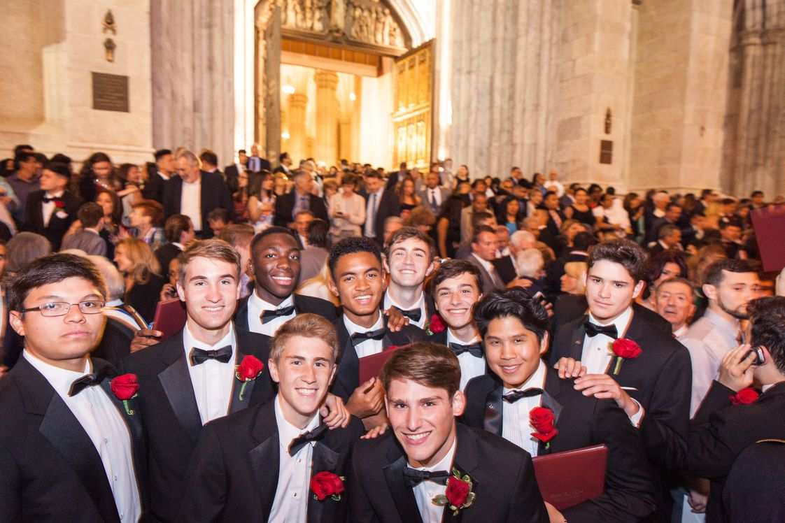 Xavier High School Photo #1 - Some new Sons of Xavier from the Class of 2016 after graduating from St. Patrick's Cathedral.
