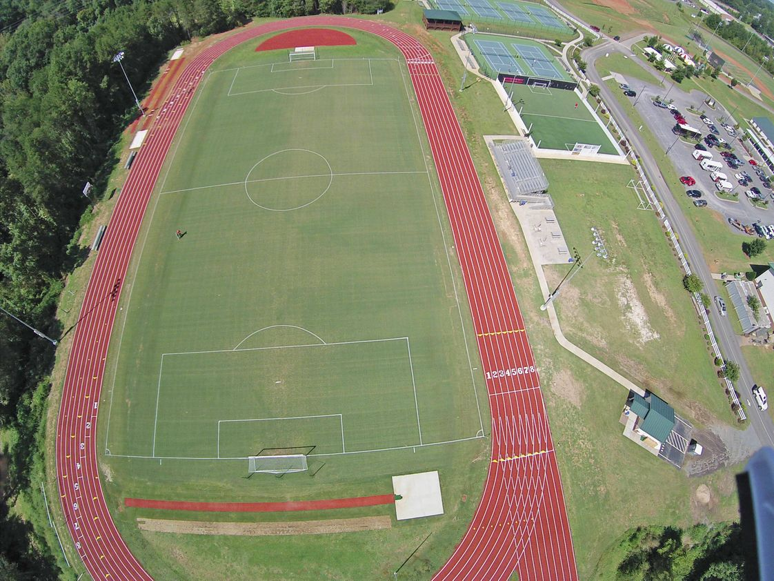 Gaston Christian School Photo - 66-acre campus with a new 8-lane track at the soccer field