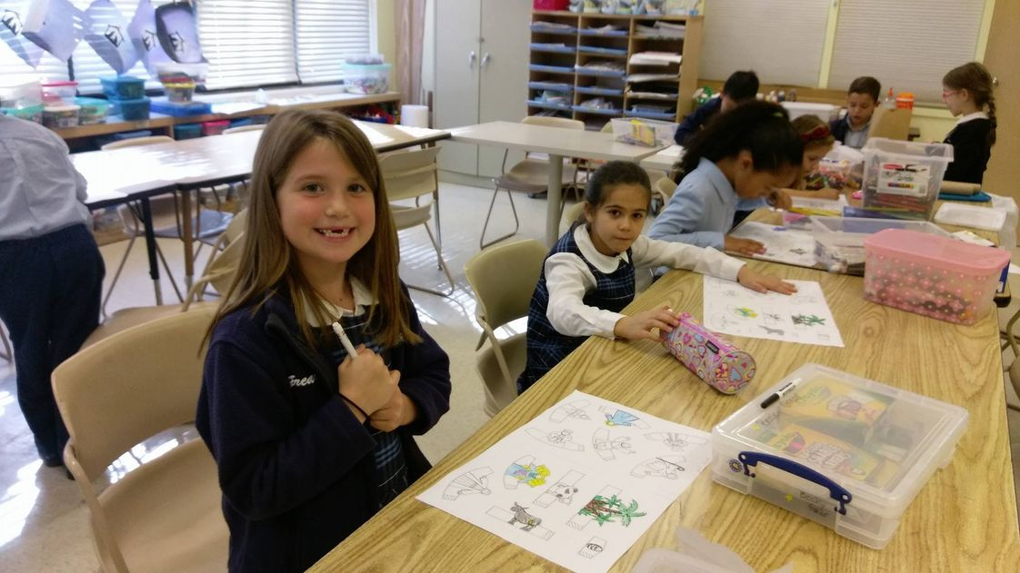 St. Paul Catholic School Photo - Art Class is fun!