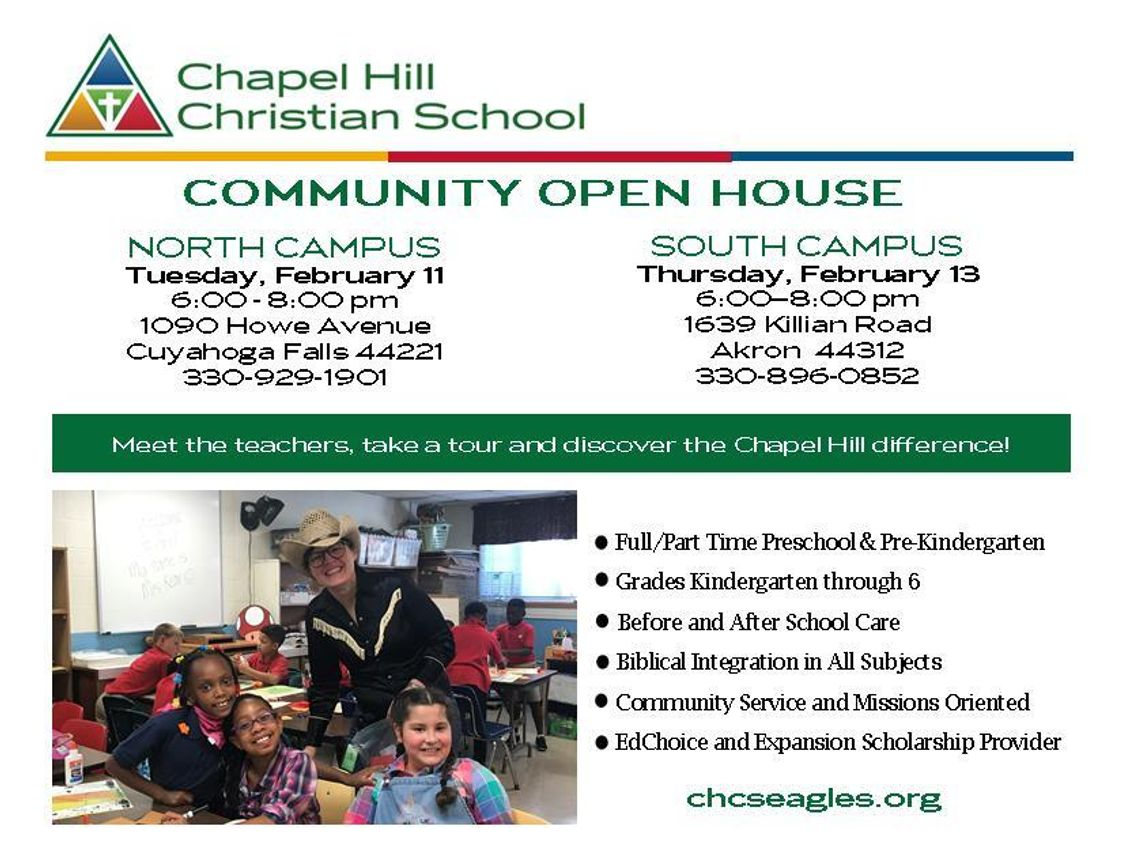 Chapel Hill Christian School Photo - North Campus Community Open House - Join us!