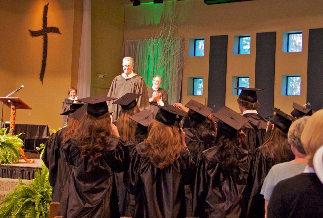 Franklin Classical School Photo - Dr. Grant presenting the new graduates