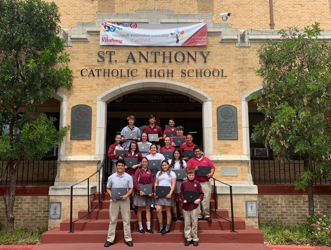 St. Anthony Catholic High School Photo - St. Anthony is the only Catholic High School in San Antonio to partner with Microsoft to launch its Microsoft Innovative Program.