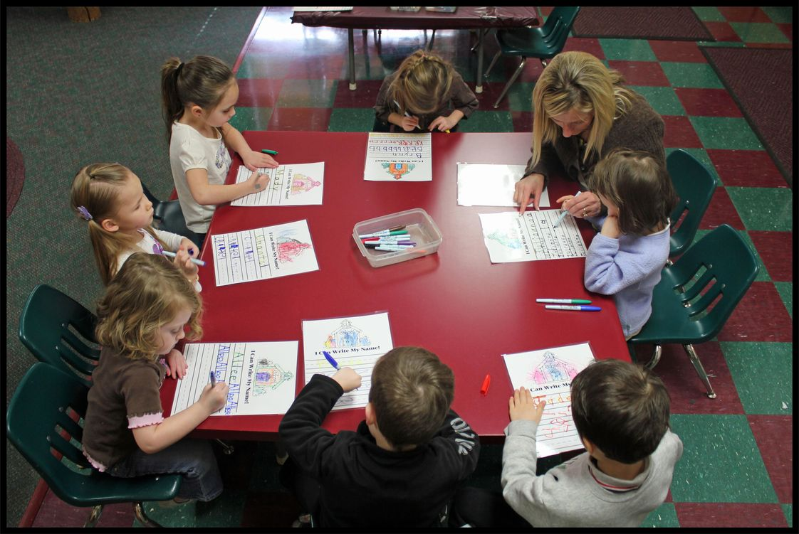 Newcastle Preschool Photo - Newcastle Pre-K students participate in daily writing activities