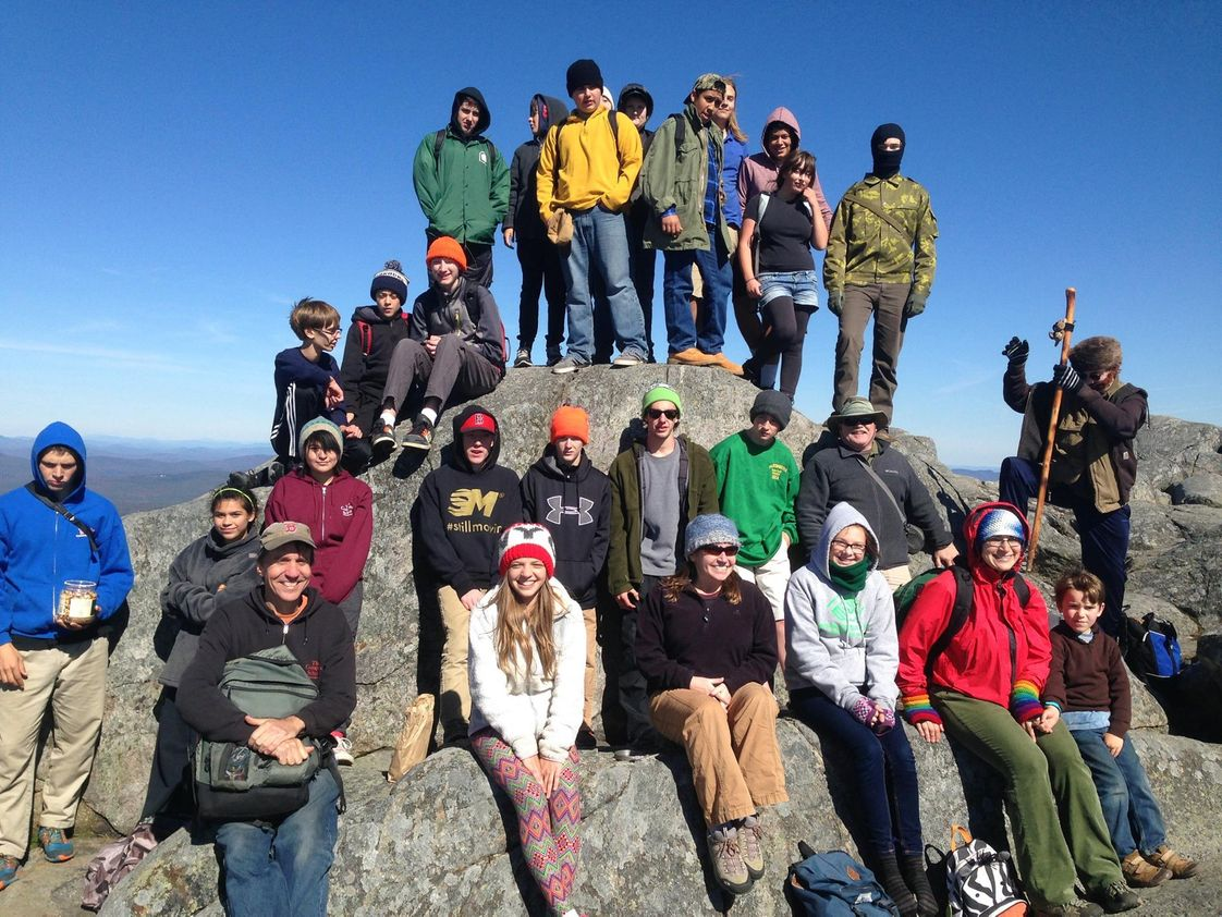 Compass School Photo #1 - Mountain Day is an annual event -- all grades hike to the top of a local mountain with the staff and faculty, and families are welcome, too.
