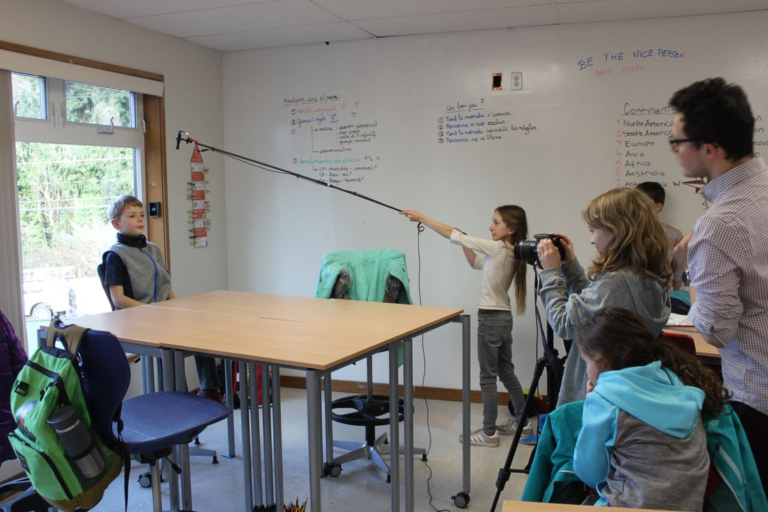 French Immersion School Of Washington Photo #1 - The 4th grade students recorded videos to teach others how to become responsible eco-citizens. They wrote their own scripts, recorded their scenes, and edited their videos.