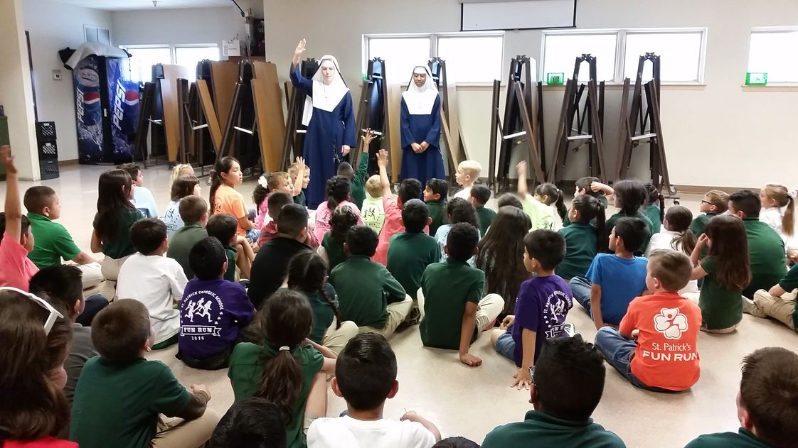 St Patrick's Catholic School Photo #1 - The Sisters of Mary, Mother of the Church visiting our school to share about their vocation.