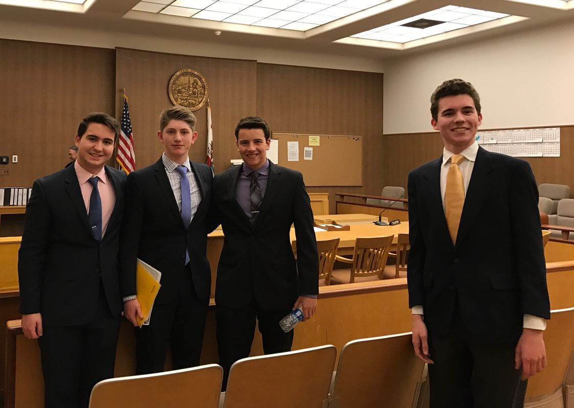 Junipero Serra High School Photo - Four members of Serra's mock trial team