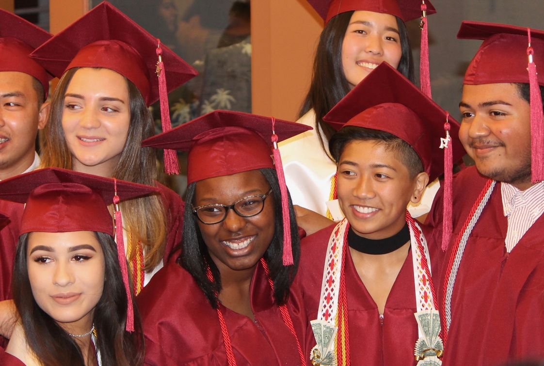 Mountain View Academy Photo #1 - Cheerful students from the graduating class of 2017.