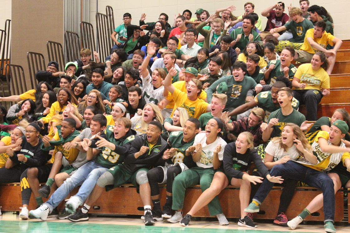 Martin Luther High School Photo #1 - Senior Crowd at Basketball Game