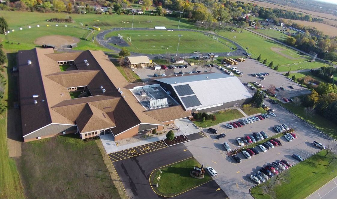 Shoreland Lutheran High School Photo - SLHS Campus view from a drone photograph