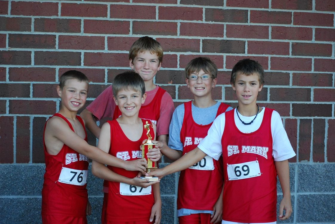 St. Mark Lutheran School Photo #1 - This is the younger boys team celebrating after a great race.