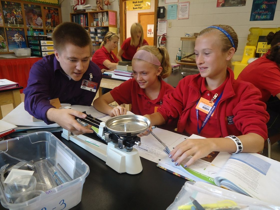 St. Thomas More School Photo - Activities that engage students in learning are a hallmark of education at STM, recognized by The Ohio Academy of Science for excellence in science education.