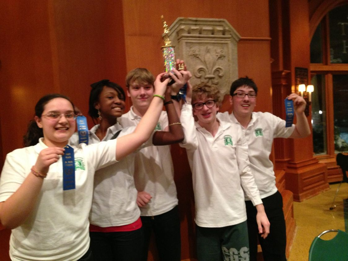 Chicago Grammar School Photo - CGS Latin Team wins 1st Place Junior High Chicago Regional Certamen Tournament.
