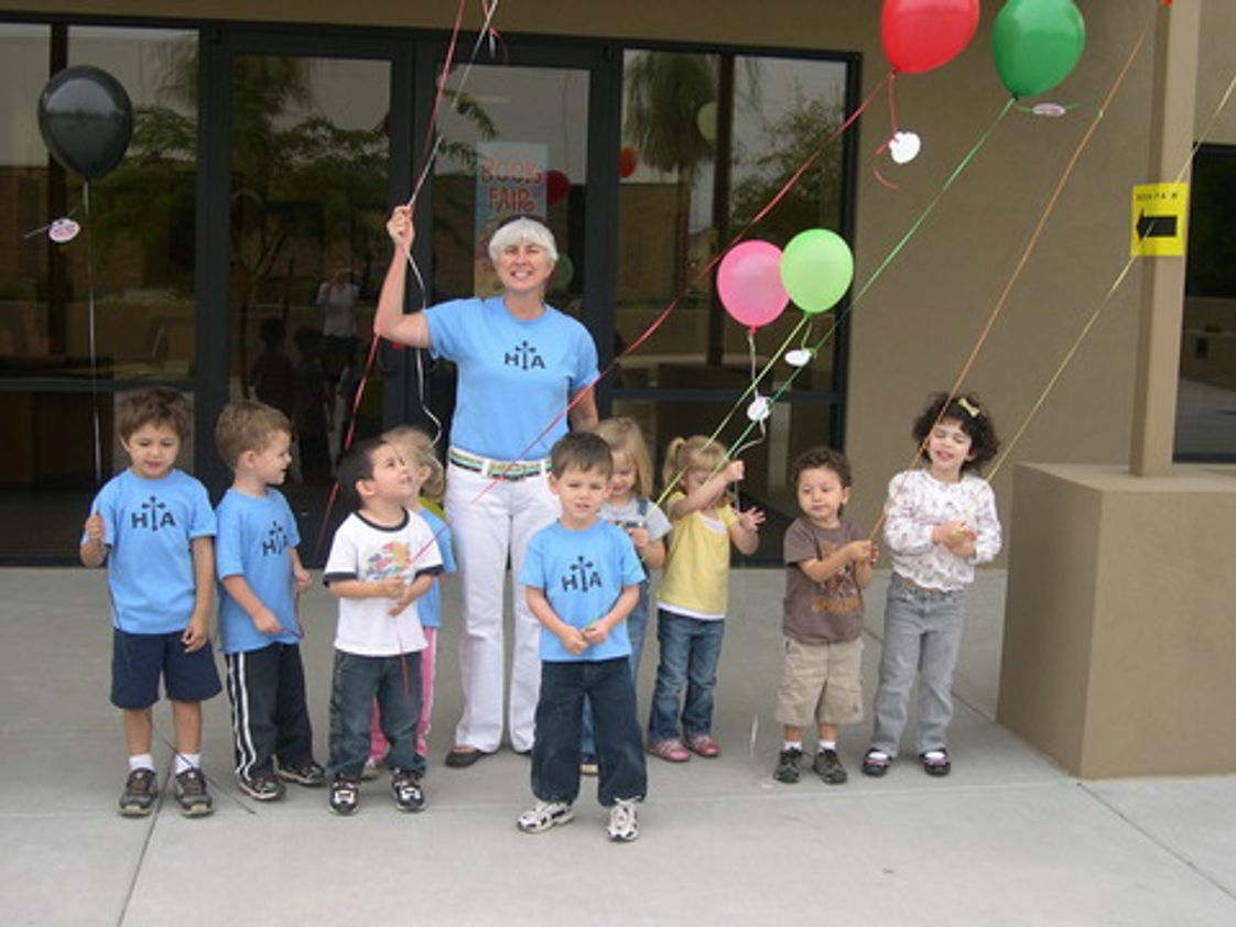 "Holy Trinity Academy Photo #1 - Our Pre K 3 class released balloons with attached blessings that they drew and colored themselves. What a great way to learn the letter ""B""!"