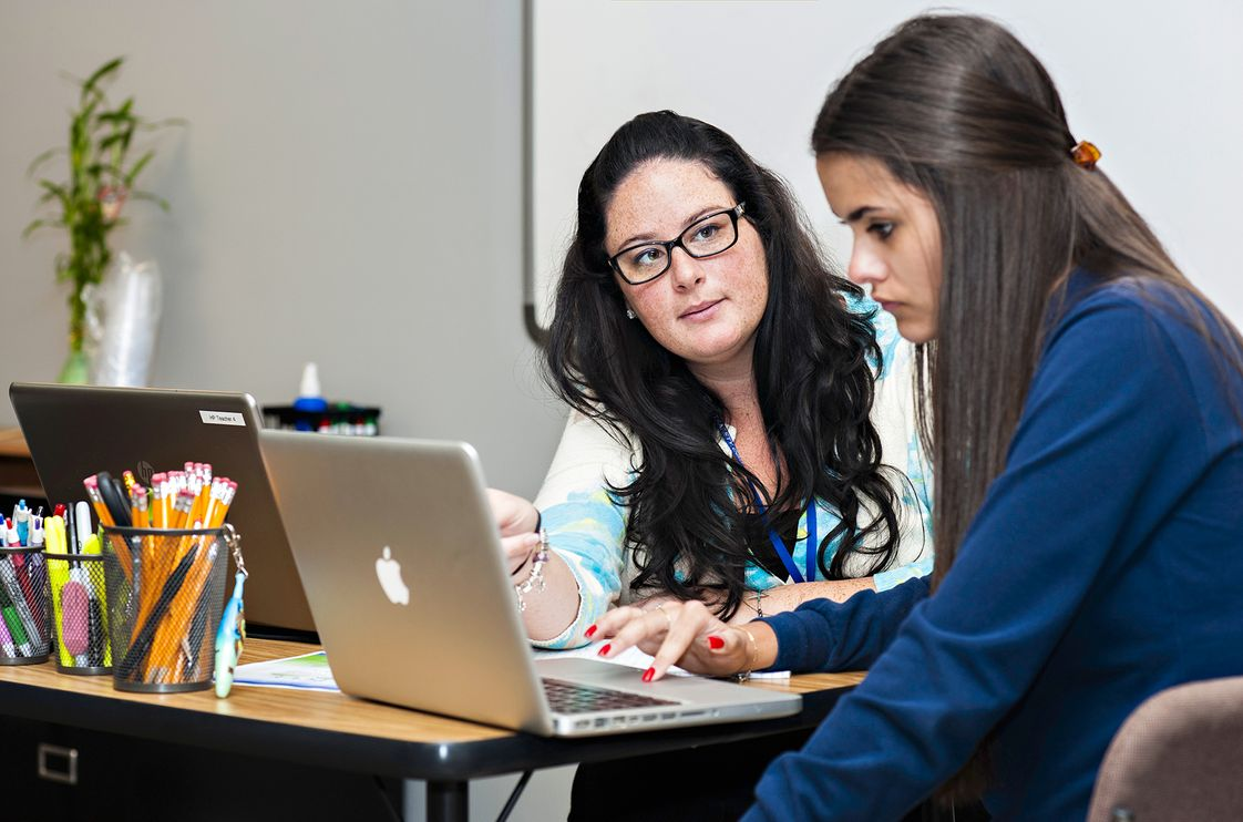 Palmetto Bay Academy Photo - PBA students get just-in-time, one-on-one attention from teachers to complete assignments and investigate content through a flipped instructional model.