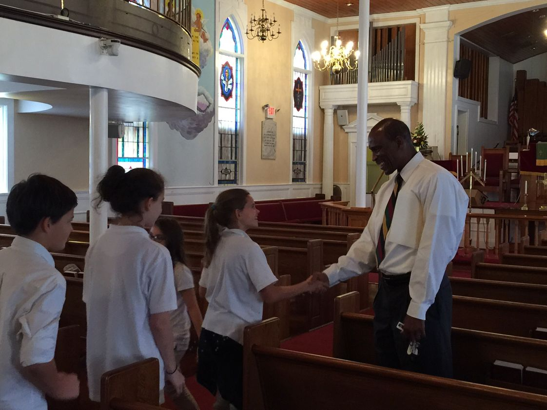 University School of the Lowcountry Photo - Visiting Ebenezer AME Church.